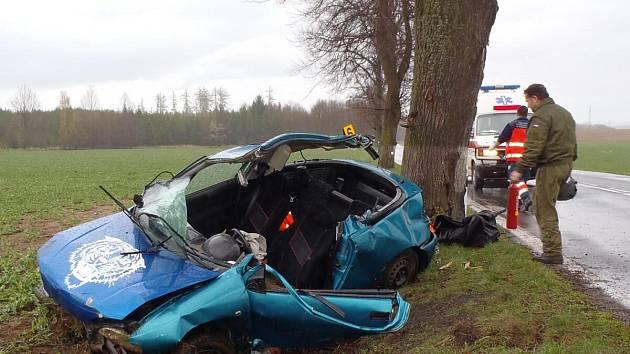Vážná dopravní nehoda u Hradešic