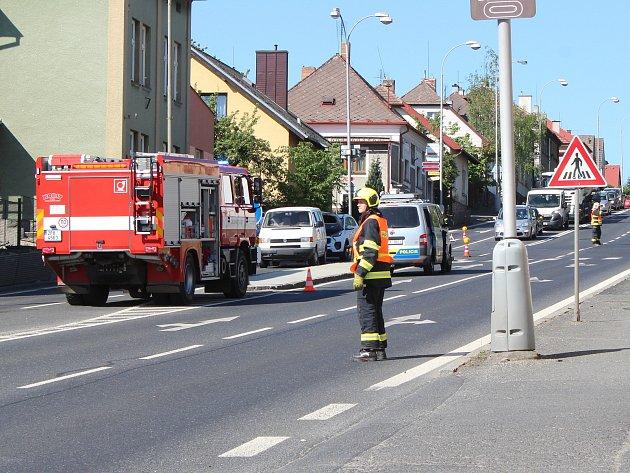 Nehoda vDomažlické ulici vKlatovech