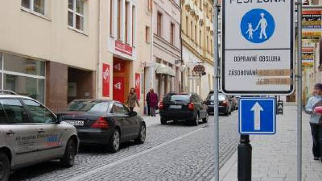 Randova ulice v Klatovech