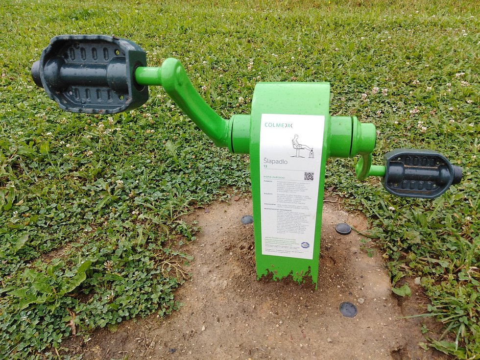 Nové posilovací stroje v Klatovech.
