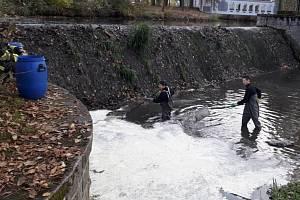 Zásah hasičů na Drnovém potoce v Lubech.