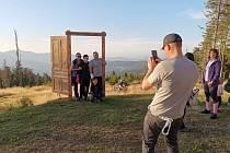 Na Pancíři odhalili Šumavské dveře a představili nová trika.