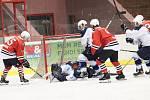 Přátelské hokejové utkání HC Klatovy - HC Škoda Plzeň (bílí).