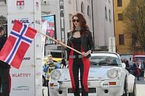 Start 25. Historic Vltava Rallye v Klatovech.