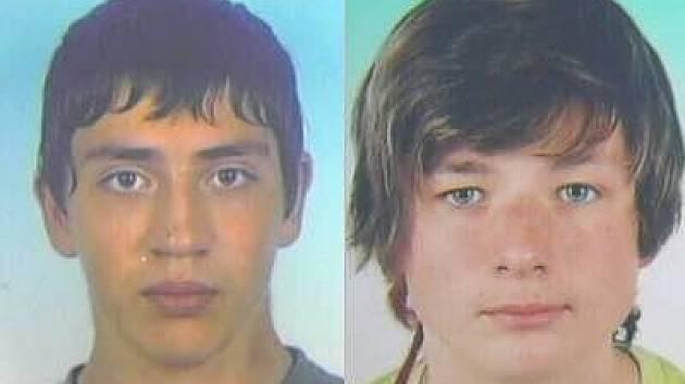 Pohřešovaní Dominik Bárta (vlevo) a Michal Mitana