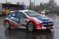 Roman Kresta na trati 1. RZ 44. Mogul Šumava Rallye