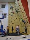 Zahájení zimní lezecké sezony v hale centra míčových sportů v Klatovech.
