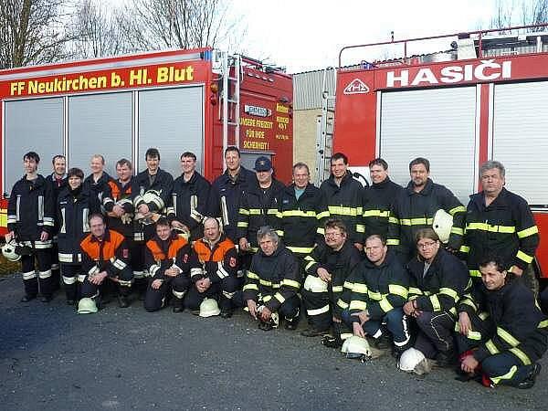 Společné cvičení nýrských a neukirchenských hasičů