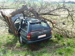 Dopravní nehoda v Horažďovicích.