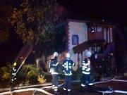 Požár sýpky ve Štěpánovicích u Klatov