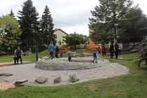 Úprava zahrady v MŠ Máchova v Klatovech.