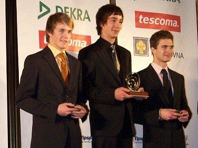Libor Toman (uprostřed) získal Zlatý volant