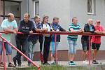 Exhibiční zápas bývalých a současných fotbalistů Chanovic.