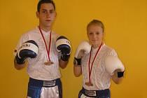 Kickboxeři Nikola Hammerová a a Aleš Martínek.