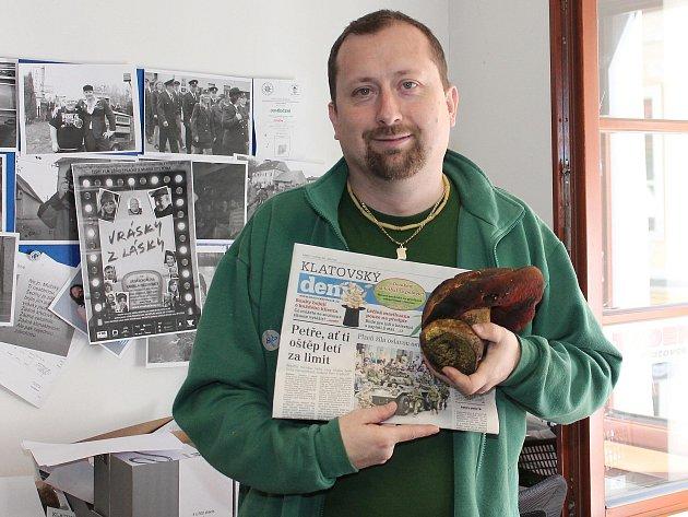 Milan Kilián našel v Pošumaví hřiba kováře, brzký nález překvapil i mykology