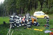 Dopravní nehoda u Petrovic u Sušice.