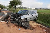 Nehoda u Ostřetic, kterou zavinil řidič pod vlivem drog.