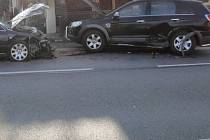 Nehoda v Beňovech.