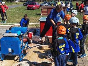 Dětská hasičská soutěž v Lubech.