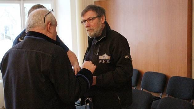 Jan Uldrich u klatovského soudu.