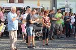 Demonstrace v Klatovech.