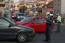 Dopravní nehoda čtyř osobních automobilů na Domažlickém předměstí v Klatovech