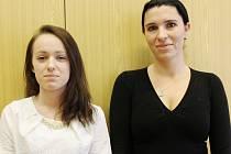 Markéta Malachovská (vlevo) s učitelkou Jaroslavou Kubernátovou.