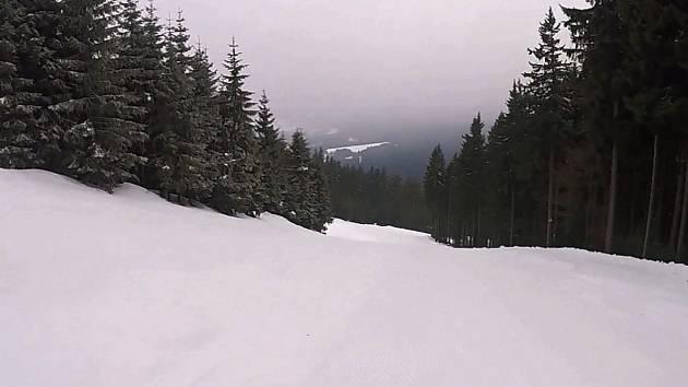 Snímek ze Špičáku z 8. března.