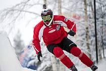 Václav Kosnar z Klatov na závodě Red Bull Crashed Ice 2018 ve finském městě Jyväskylä.