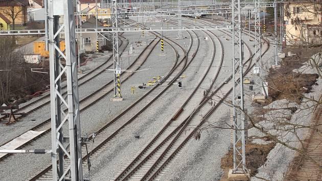 Opravy horažďovického nádraží.