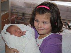 David Čermák z Nýrska se narodil v klatovské porodnici 27. ledna ve 22.16 hodin. Vážil 3580 gramů a měřil 51 cm. Rodiče Kateřina a Libor přivítali syna na porodním sále společně. Na brášku se těší Veronika (8).