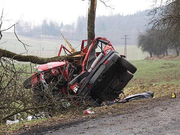 Sobotní tragická nehoda nedaleko Lub