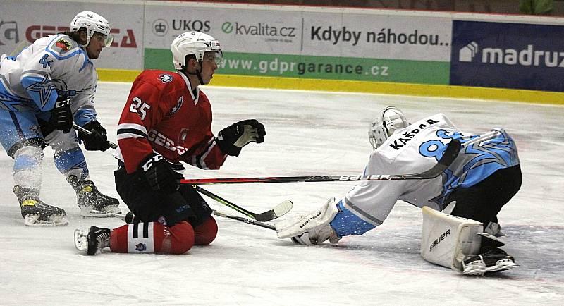 SHC Klatovy (červení) - HC Stadion Cheb 3:0.