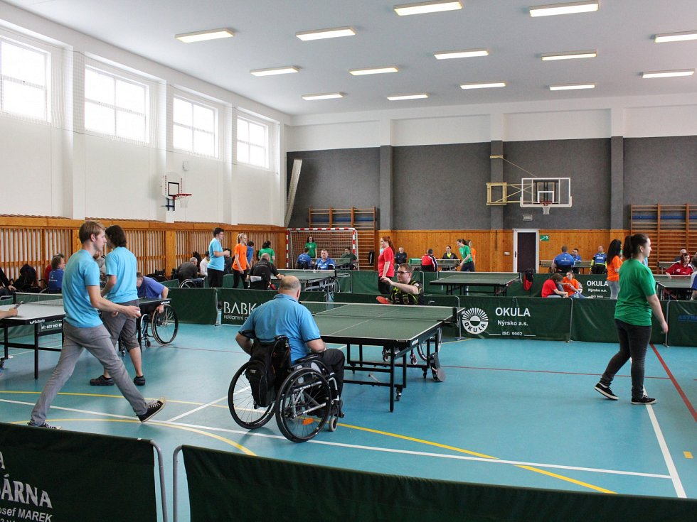 20. ročník českého poháru vozíčkářů jednotlivců ve stolním tenise: Cena Klatov 2017