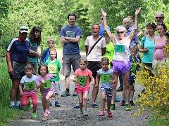 Na Běhu zelenským údolím v Zelené Lhotě nechyběly ani dětské běhy.