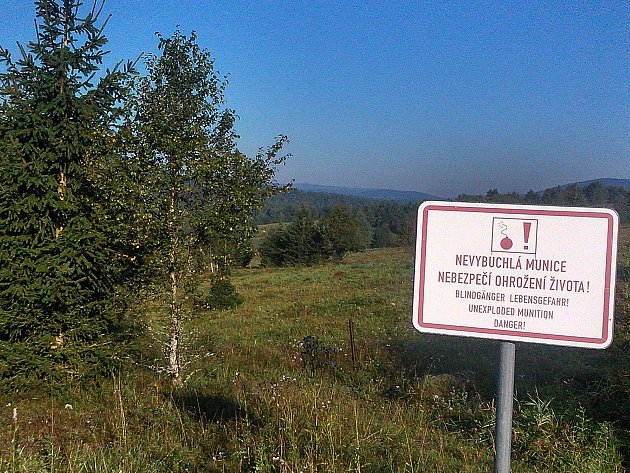 Dopadová plocha bývalé střelnice na místě zaniklé obce Stodůlky