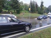 Následky přívalového deště v Klatovech.