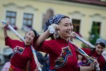 Folklorní vystoupení v Sušici.