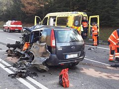 Tragická nehoda u Mochtína.