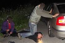 Zadržení zloděje benzínu na Modravě