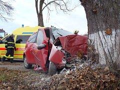 Dopravní nehoda u Kašperských Hor