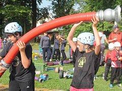 Hasičská soutěž družstev mladých hasičů v Lubech u Klatov