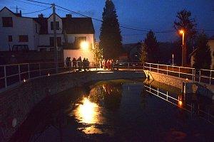 Slavnostní otevření opraveného rybníčku v Týřovicích