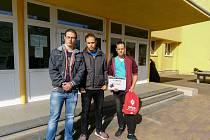 Studenti střední průmyslové školy v Klatovech.