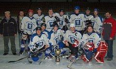 Vítězný tým okresního hokejového přeboru Bohemia Lion Cup TJ Sušice.