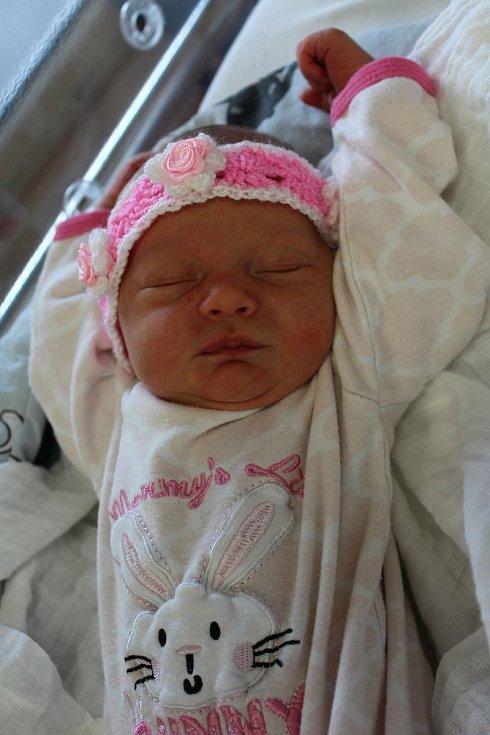 Anežka Hornaková zKlatov se narodila vklatovské porodnici 25. července v3:52 hodin. Maminka Michaela a tatínek Jaroslav dopředu věděli, že jejich prvorozeným miminkem (2870 g, 47 cm) bude holčička.