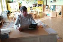 Čtení se starostou v MŠ Pačejov.