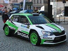 Start Rallye Šumava Klatovy 2017