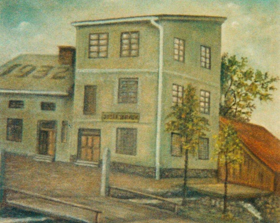Rodný dům v Hyršově, kde Anna Fischer strávila dětství.