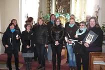 Benefiční koncert dětí a sboru Metanoia v  kostele v Dlouhé Vsi